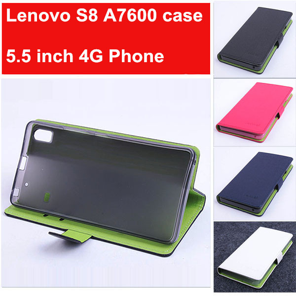 huge discount 6b967 d39e9 case for 5.5 inch Lenovo S8 A7600 4G cell phone fashion hit colore Baiwei  brand flip pu leather cover case wallet style