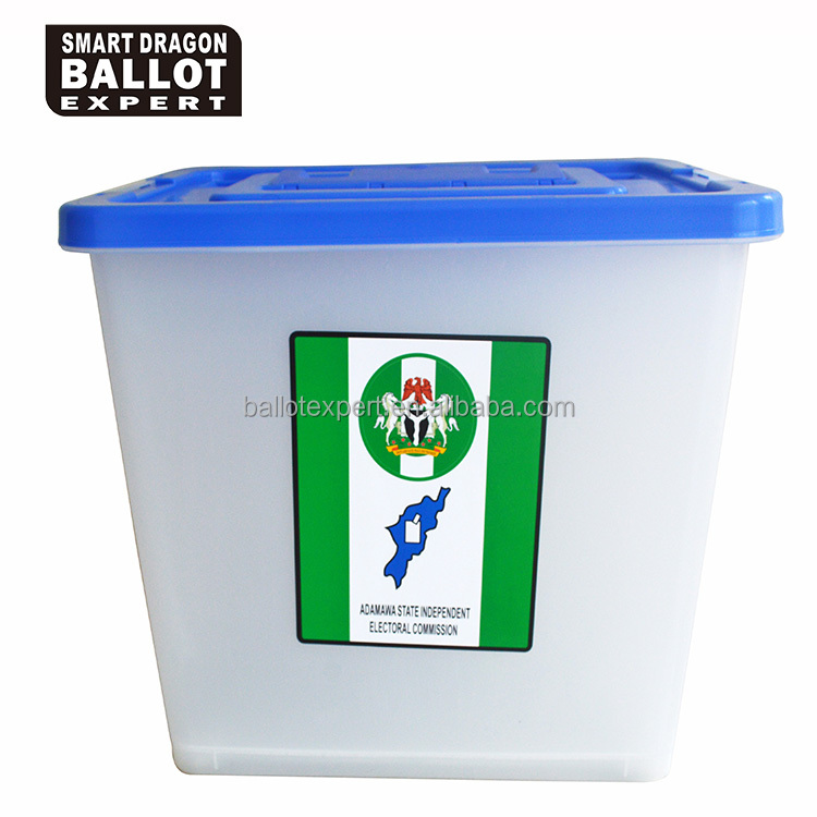 plastic container with flip cover and wheel/plastic election box with measure cup