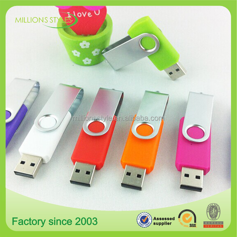 OEM Design Printed USB Flash Drive , Hot Selling USB Stick , usb flash swivel 1/2/4/8/16/32GB