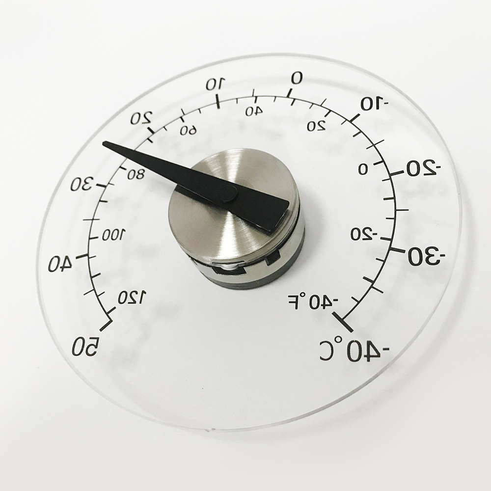 Max Min Indoor Outdoor Bimetal Window Transpa Mounted Dial Thermometer