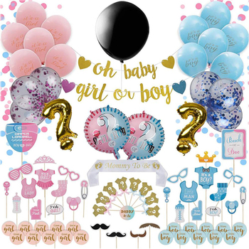 Deluxe gender reveal party supplies topper cake inflatable Balloon Photo prop Garlands for Girl or Boy Party Supplies
