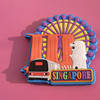 3D Singapore merlion shaped soft pvc fridge magne