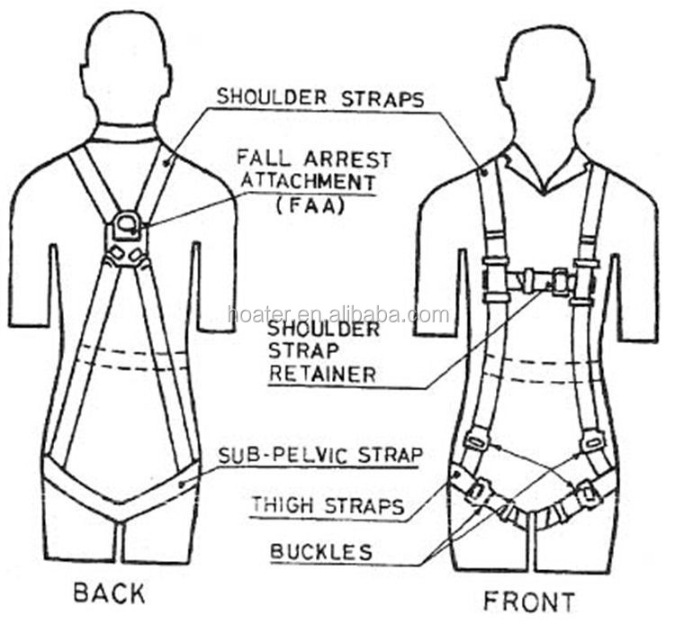 Work At Height Safety Belt Body Harness With Lanyard Buy