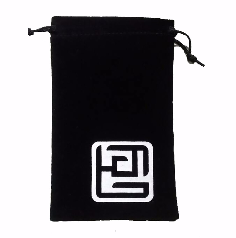 Custom Logo Printed Suede Jewelry Pouch/Suede Drawstring Bag