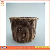 Wholesale cheap cane wicker small gift basket samll plastic cane flower basket