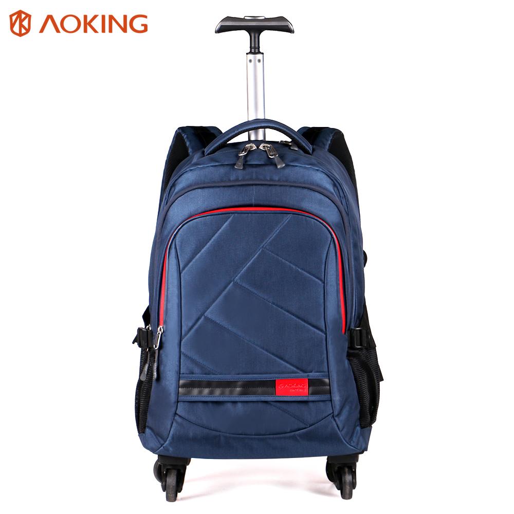 Aoking sac à dos à roulettes étanche sac chariot hommes bagages