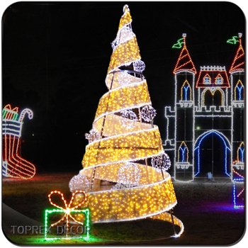new products 2018 lighted led spiral christmas tree lights