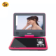 China factory Portable DVD Player with Swivel Screen Built-in Battery Car Trip Travel Digital DVD for TV Kids