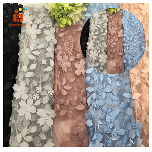 3d flower gorgeous tulle embroidery fabric fashion lover and bridal dressing