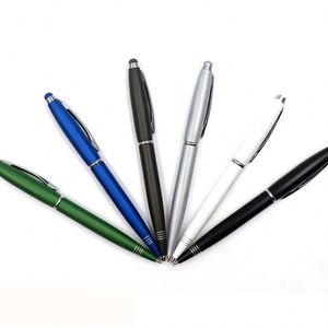 Inventory New Item Promotional Blue Ink Ballpoint For All Universal Screen Touch Screen Stylus Logo Pen/ Gift Pen