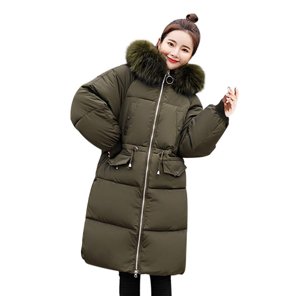 Dreamyth-Winter Women Solid Thicker Winter Slim Warm Lammy Jacket Hair Collar Coat Overcoat Durable