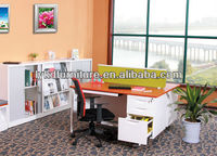 Adjustable executive modern luxury stock office desks with side table