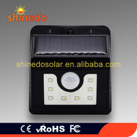 Solar Lights Outdoor Motion Sensor Solar Lights Wireless Waterproof 8 LED Night Lights for Yard