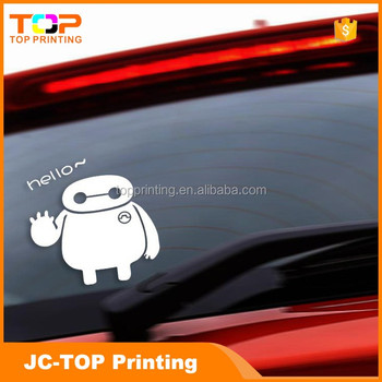 Custom printing windshield plastic vinyl transfer decal window car sticker