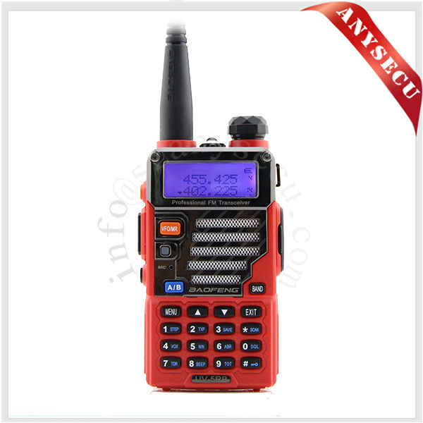 police scanner radio BAOFENG UV-5RB-RED Dual-Band handheld two way radio