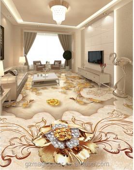 Luxus Europaischen Gold Rose Stein Parkett 3d Bodenfliesen Aufkleber