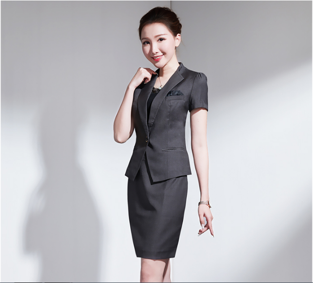 Fashional design business 2 piece ladies suits Ld003