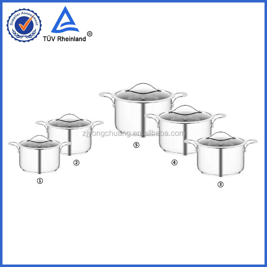 OEM large aluminum cooking pot stainless steel cookware