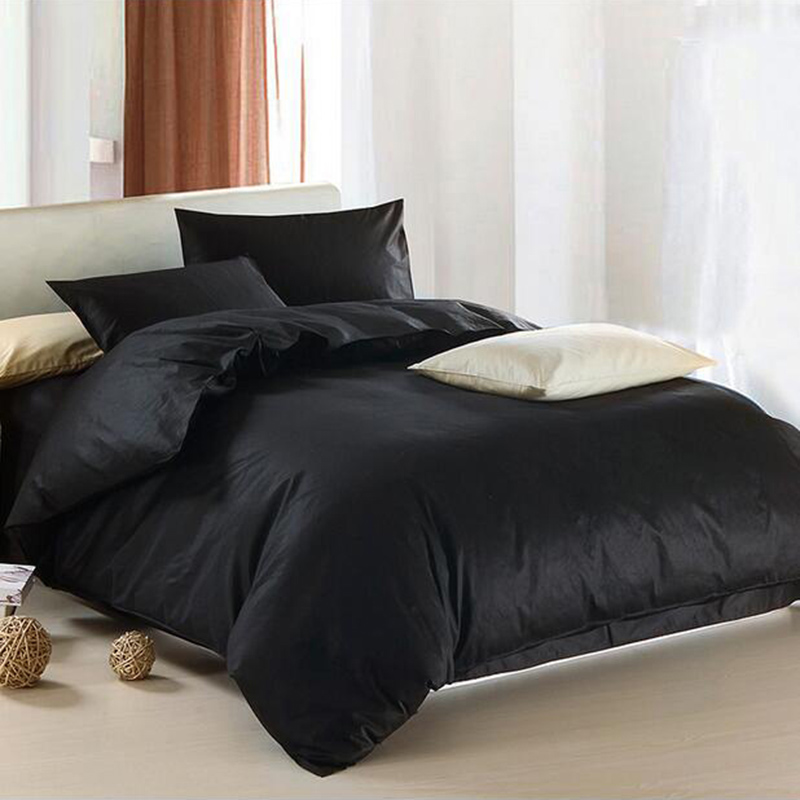 Wholesale Solid Black Bedding Set Modern Au Uk Us Single