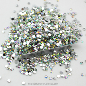 Machine faceted Round Universal 4mm resin rhinestone for garment accessories