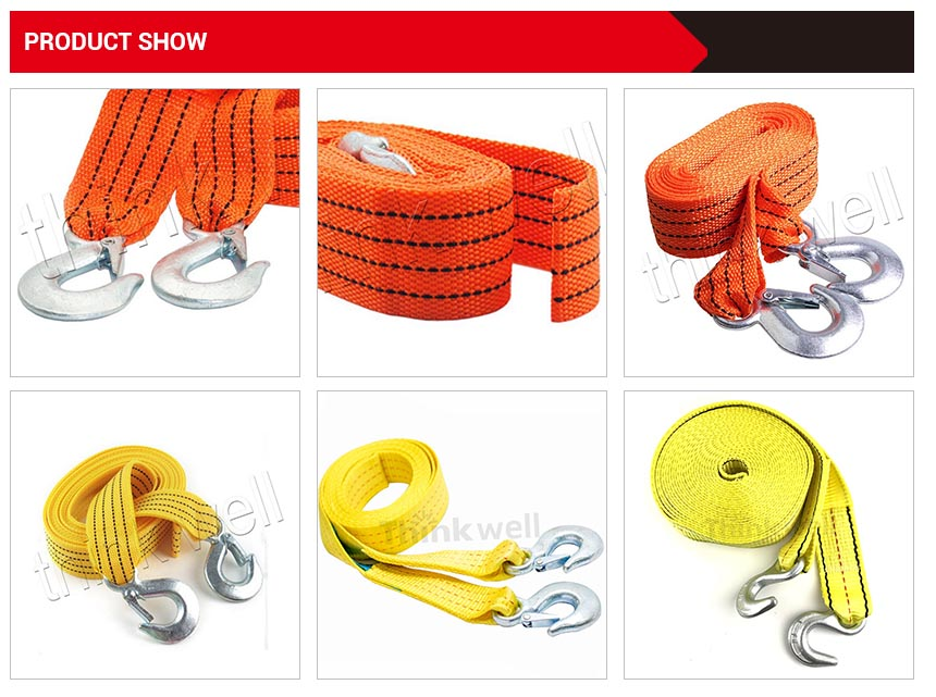 Heavy Duty Recovery Tow Strap With Shackle