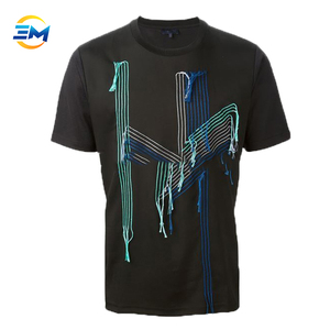 2018 custom mens high quality short sleeve cotton t shirt with embroidery online store