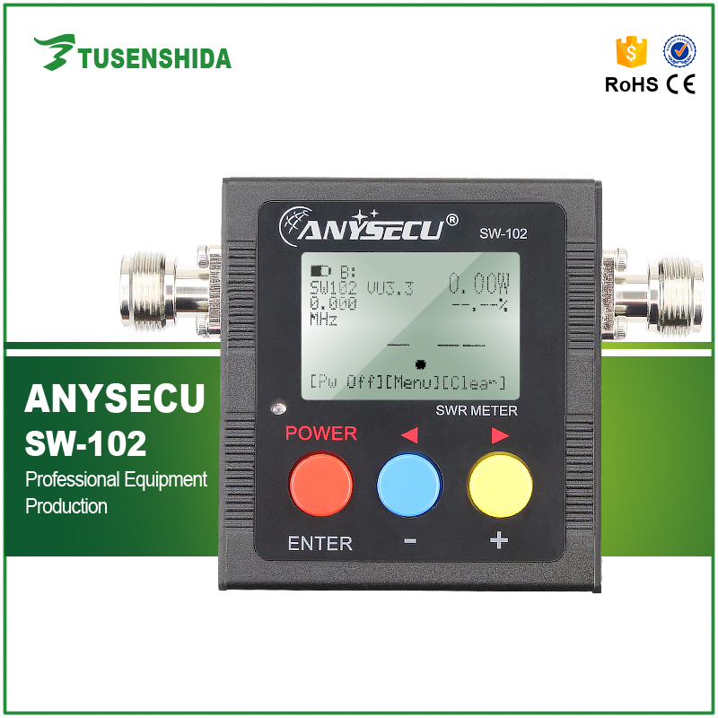 Newly Launched SW-102 Digital VHF/UHF Power&SWR Meter with 2 Connectors