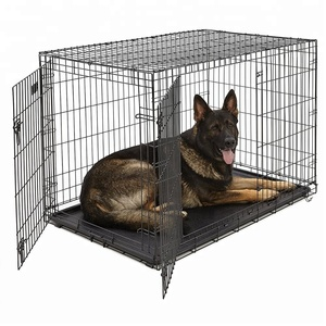 Factory Wholesale Metal Folding Dog Crate Large Dog Cage