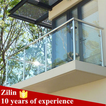Stainless Steel Indoor Railing For Tempered Glass Railing