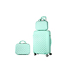 2019 New Fashion Hard Shell N'8 Zipper 2 Piece Carry On ABS Trolley Luggage Set