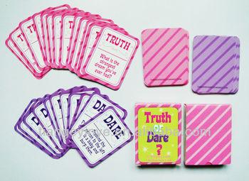 Mini Ukuran Truth Or Dare Kartu Permainan Buy Kartu Permainan Kartu Permainan Kustom Mahjong Bermain Kartu Product On Alibaba Com
