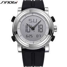 SINOBI Relógios Esportivos para Os Homens Marca Pulseira de Silicone Digital-Relógio 2016 noctilucous Relógio Dos Homens de Luxo À Prova D' Água Relogios masculinos