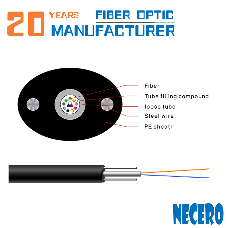 environmental material anti-aging GYXTPY 2 core ftth drop cable