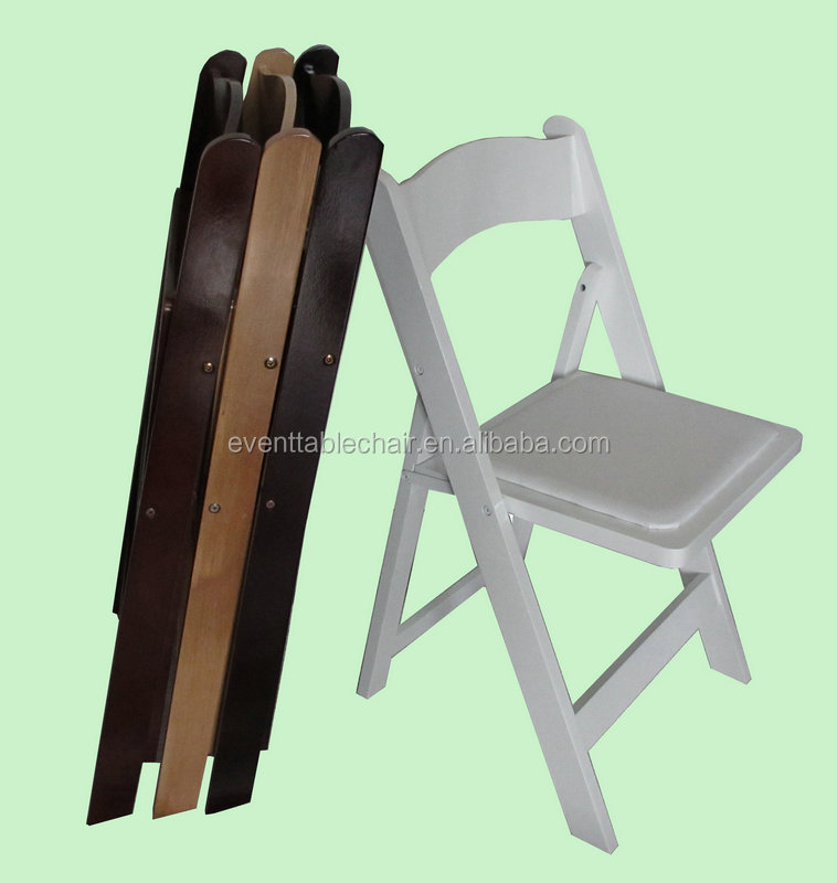 High Quality Wholesale Wedding White Wood Folding Chairs For Party Rental B