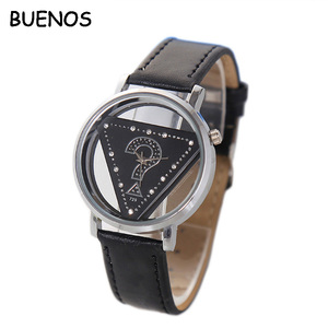 Classic Customized Your Own Logo Casual Leather Strap Sport Watch for Man
