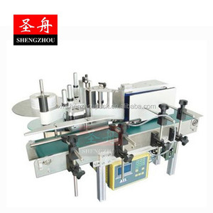 Semi Automatic Desktop Horizontal Adhesive Bottle Sticker Labeling Machine/Stick labeling machine