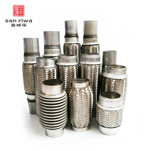 Factory Supplier Auto Flange Joint Braided Flexible Exhaust Pipe Hose