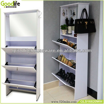 Hot Sale Wooden Shoe Racks For Closet With Mirror And Hook Buy
