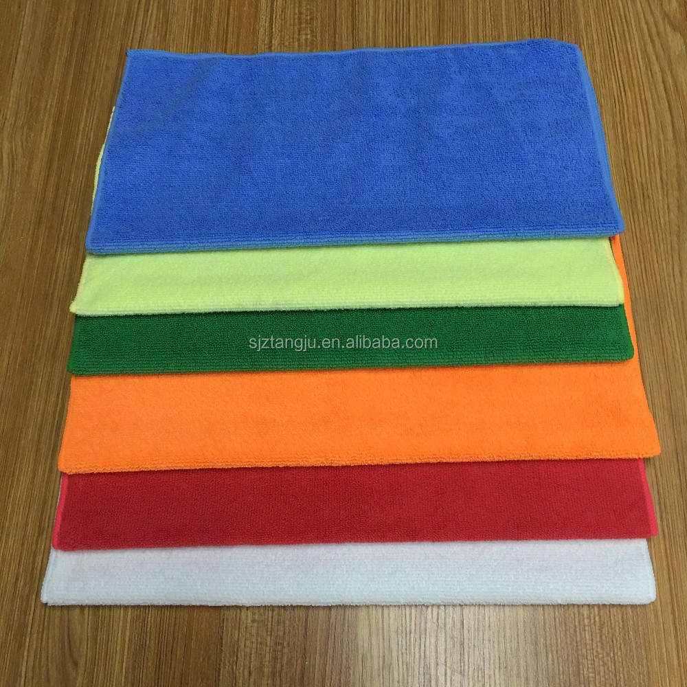 "Microfiber fabric 16x16"" all purpose Microfiber Towel microfiber cleaning cloth shop towel wiping rags car wash towel cloth"