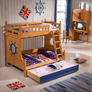 Bunk bed children bedroom furniture oak solid wood bed buy solid wood bunk bed latest bedroom Unfinished childrens bedroom furniture