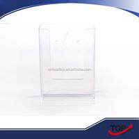 cheap Plastics wall mounted clear brochure holder