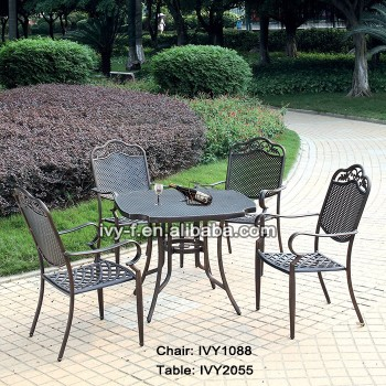 hot sale design home casual outdoor furniture bronze table and chair for  coffee shop. Hot Sale Design Home Casual Outdoor Furniture bronze Table And