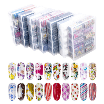 Wholesale korea nail arts decal sticker flower gel nail glue polish foil wrap sticker 3d bling cartoon nail sticker for kids