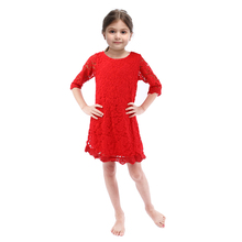 Solid Color One Piece Kid Girls Dress