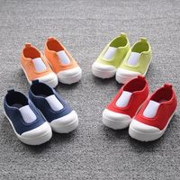 FC1699 spring 2016 Korean children canvas shoes candy color boys baby shoes