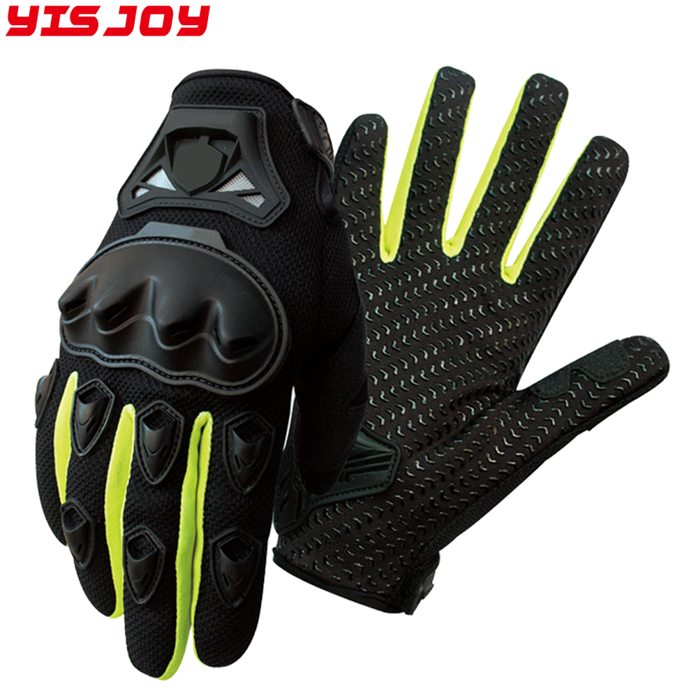 Wholesale pro biker leather motorcycle hand gloves motorbike racing riding gloves