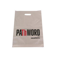 Wholesale logo printed recyclable reusable custom made cheap high quality cheap die cut handle bag