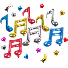 Benutzerdefinierte Dekorative Metallic Folie Ballon Bunte Musical Note Form Mylar Folie <span class=keywords><strong>Luftballons</strong></span>