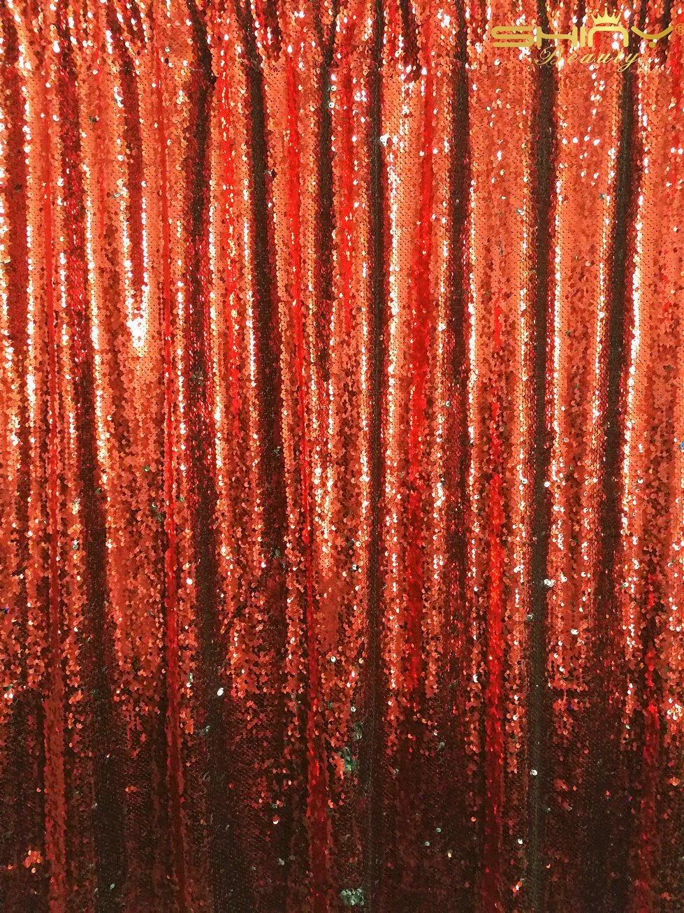 ShinyBeauty Red&Silver-Mermaid-Sequin Backdrop-2FTx8FT,Sparkyly Sequin Fabric Curtain Backdrop,Perfect for Party/Wedding/Event/Prom/Birthday