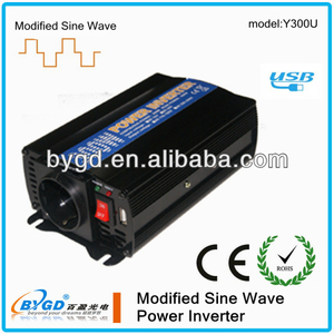 Hot selling off grid voltage converter 12 dc to 220 ac 300w made in China(Y300U)